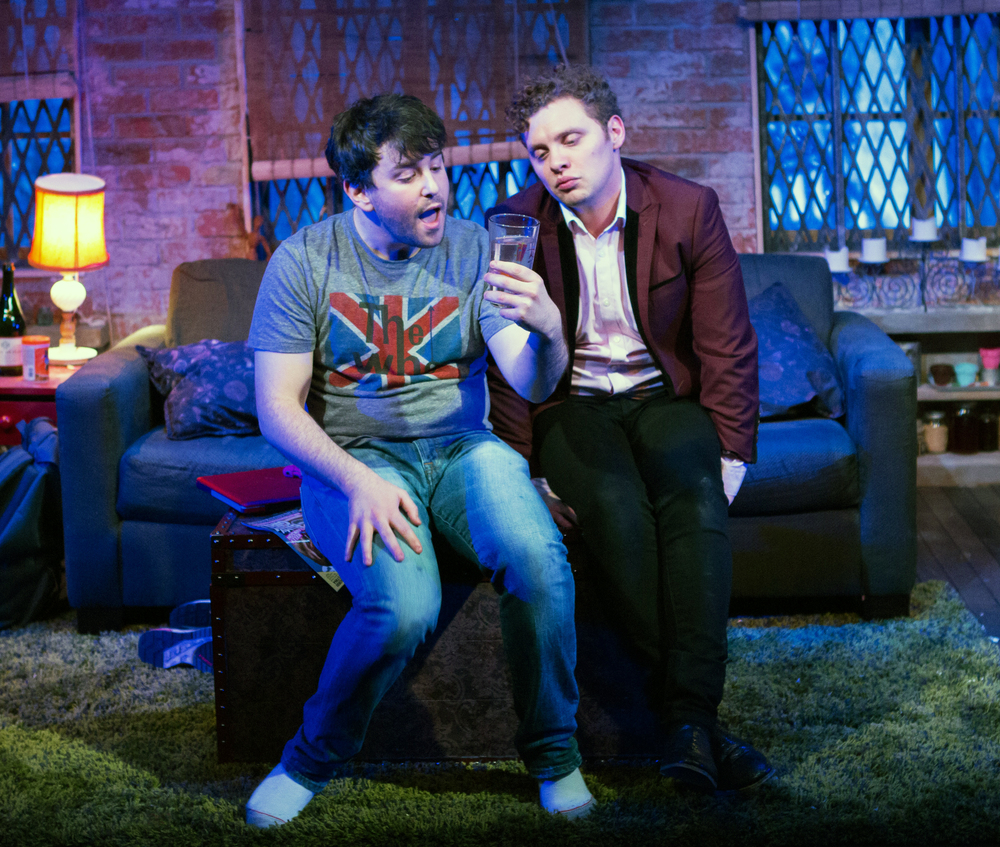 Alex Brightman and Joshua Morgan in  Soon .