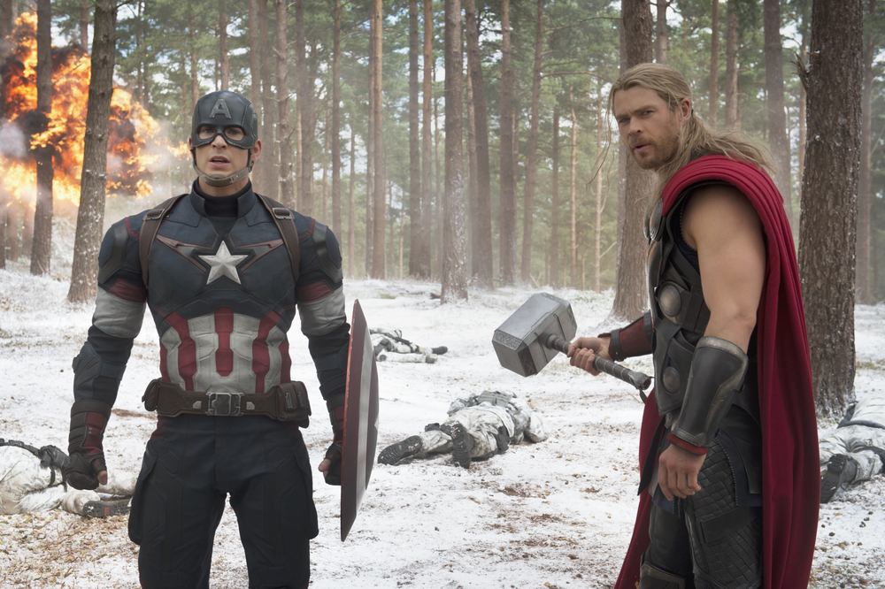 Chris Evans and Chris Hemsworth are 40 percent of Earth's Mightiest Heroes. (Marvel)