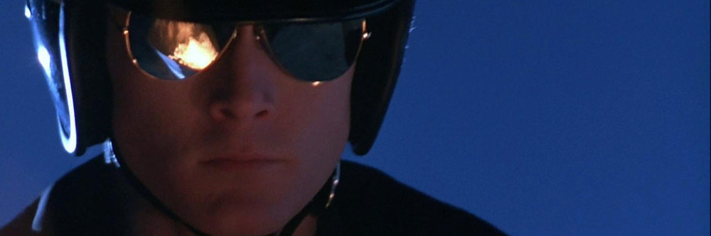 Robert Patrick as the cop-camouflaged T-1000 in  Terminator 2: Judgment Day.