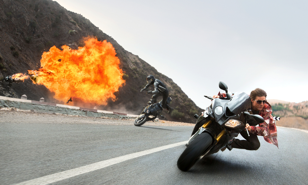 Motocruise: Five films and 19 years in, the  Mission: Impossible  series easily outclasses the  Fast and the Furious  series in everything, including high-speed chases.