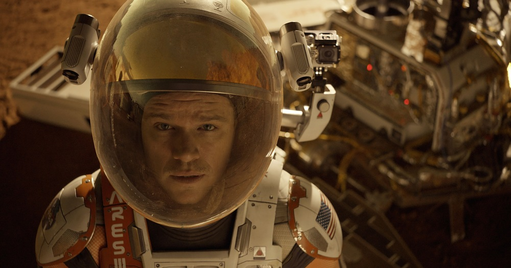Matt Damon is stranded far from home in Ridley Scott's  The Martian . (20th Century Fox)