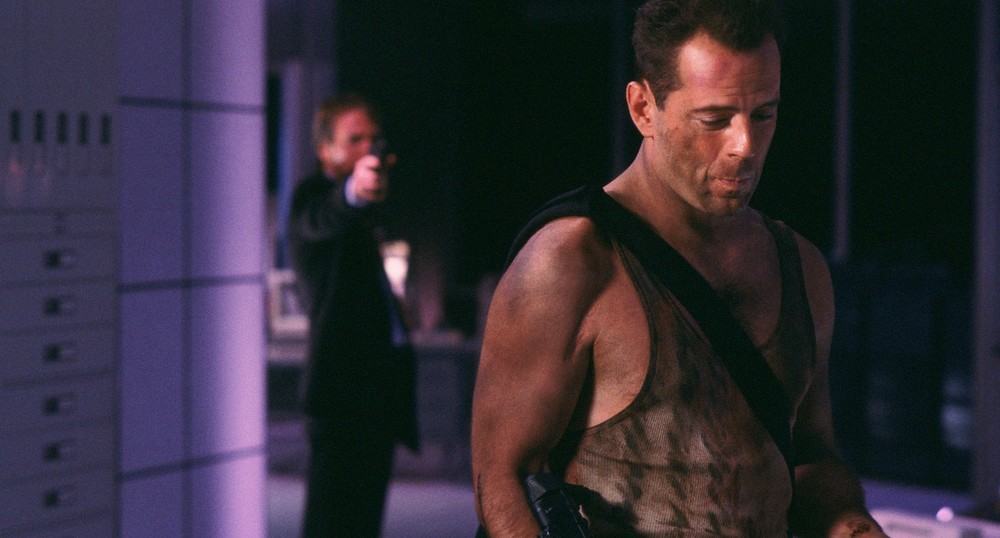 Alan Rickman & Bruce Willis both got film careers because of  Die Hard.  We'll always have  Die Hard.  (Fox)