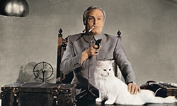 Charles Gray had previously played a 007 ally, but that didn't stop him from being cast as Blofeld in 1971's  Diamonds Are Forever.  It was the last EON Productions Bond film to use Blofeld until...