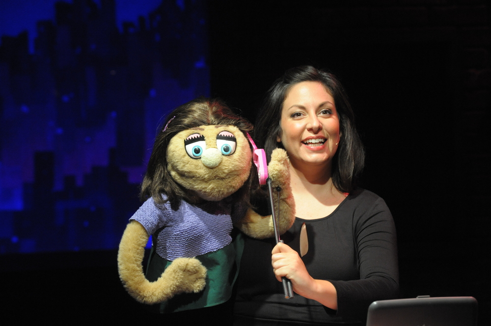 Katy Carkuff as Kate Monster in  Avenue Q.  (Stan Barouh)
