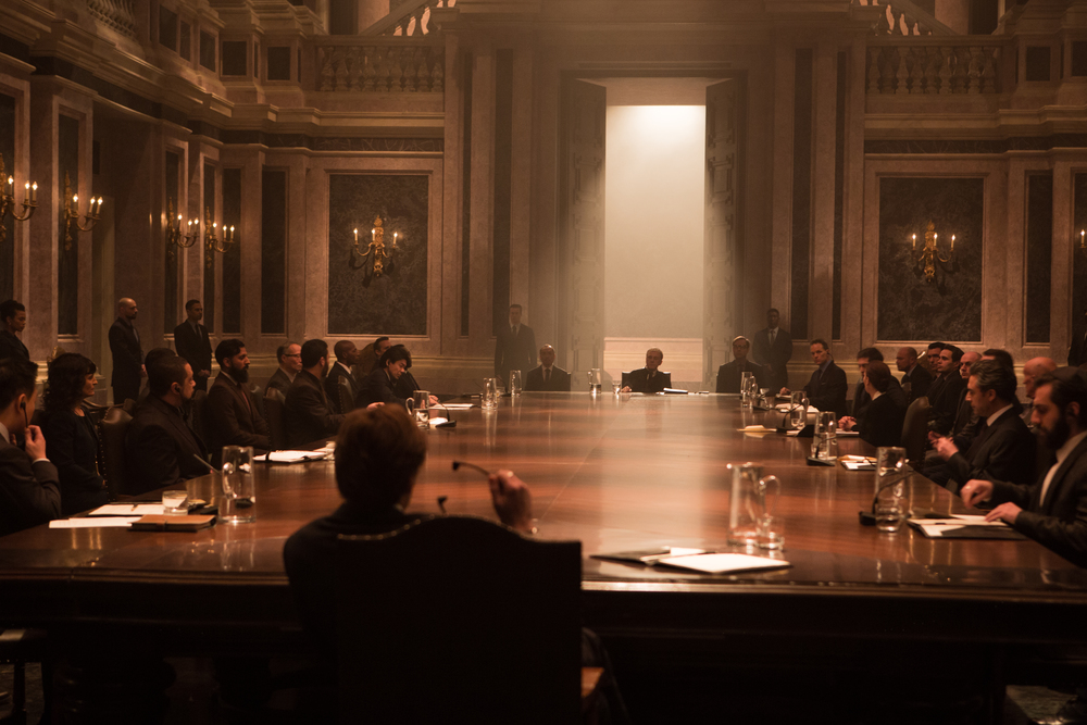 A SPECTRE gathering in  SPECTRE.  (Sony Pictures)