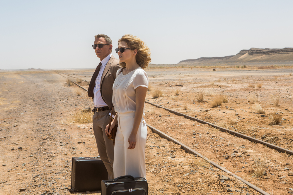 Daniel Craig and Léa Seydoux in  SPECTRE . (Sony)