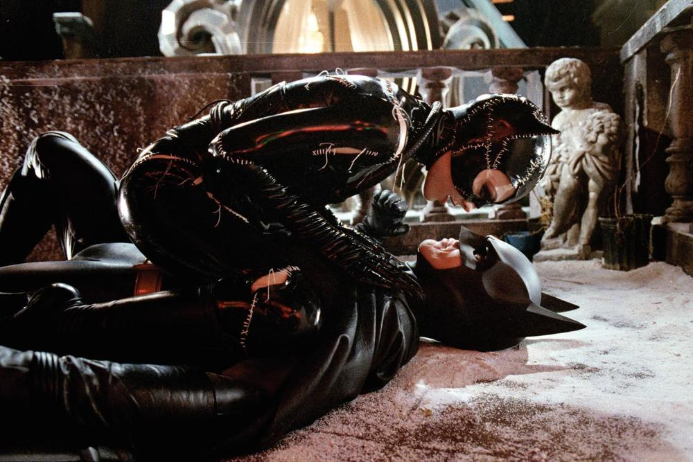 Michelle Pfieffer and Michael Keaton in Tim Burton's  Batman Returns,  a film I like more now than I did in 1992.