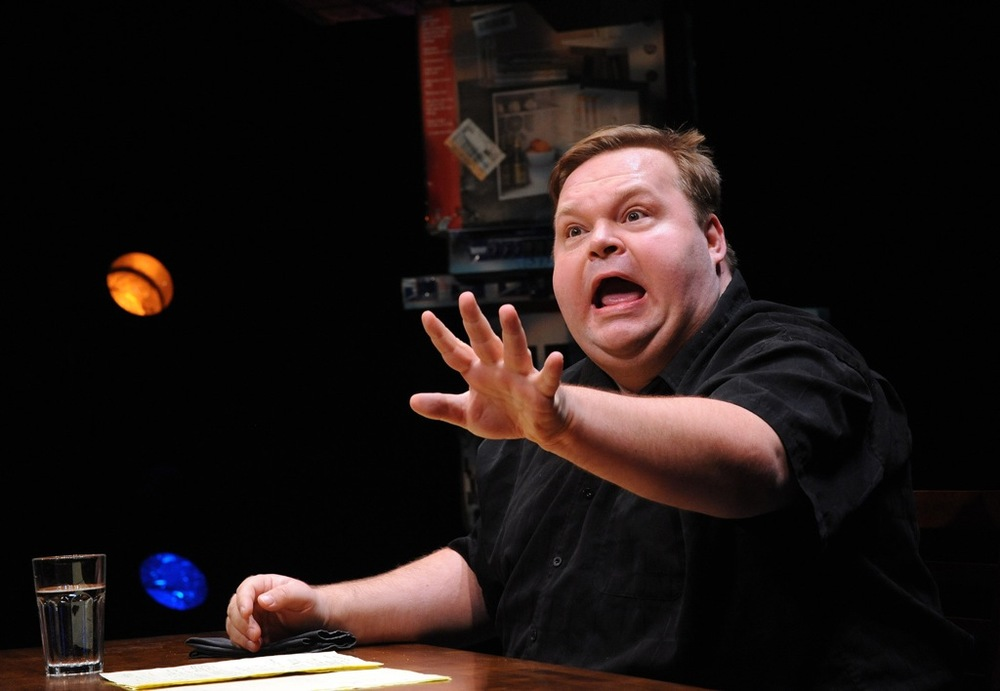 Mike Daisey performs  The Last Cargo Cult  at Woolly Mammoth in 2010 (Stan Barouh).
