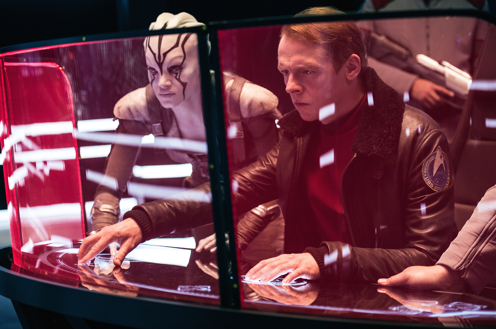 Sofia Boutella and Simon Pegg in  Star Trek Beyond  (Kimberly French/Paramount).