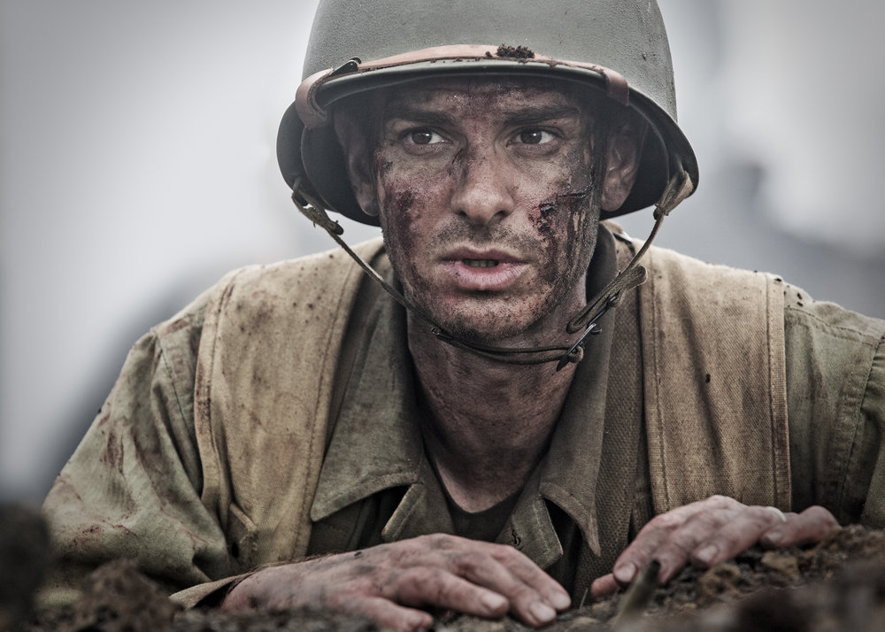 Andrew Garfield as conscientious objector and Medal of Honor winner Desmond T. Doss in  Hacksaw Ridge.  (Lionsgate)