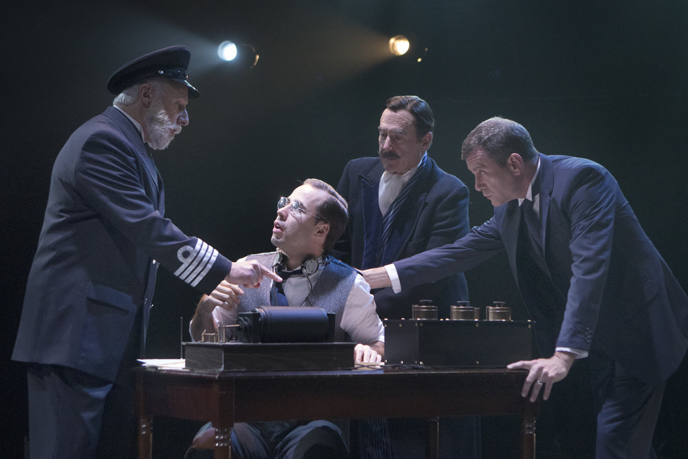Christopher Bloch, Nick Lehan, Lawrence Redmond, and Bobby Smith in Signature's  Titanic.  (Christopher Mueller)