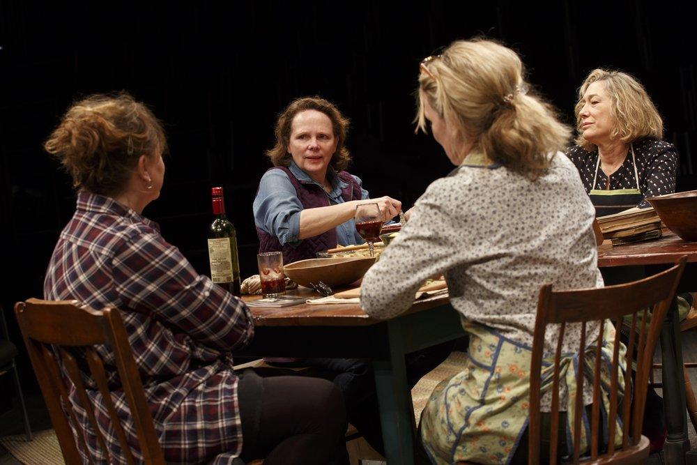 Amy Warren, Maryann Plunkett, Lynn Hawley, and Meg Gibson in  Hungry  at the Public in 2016.