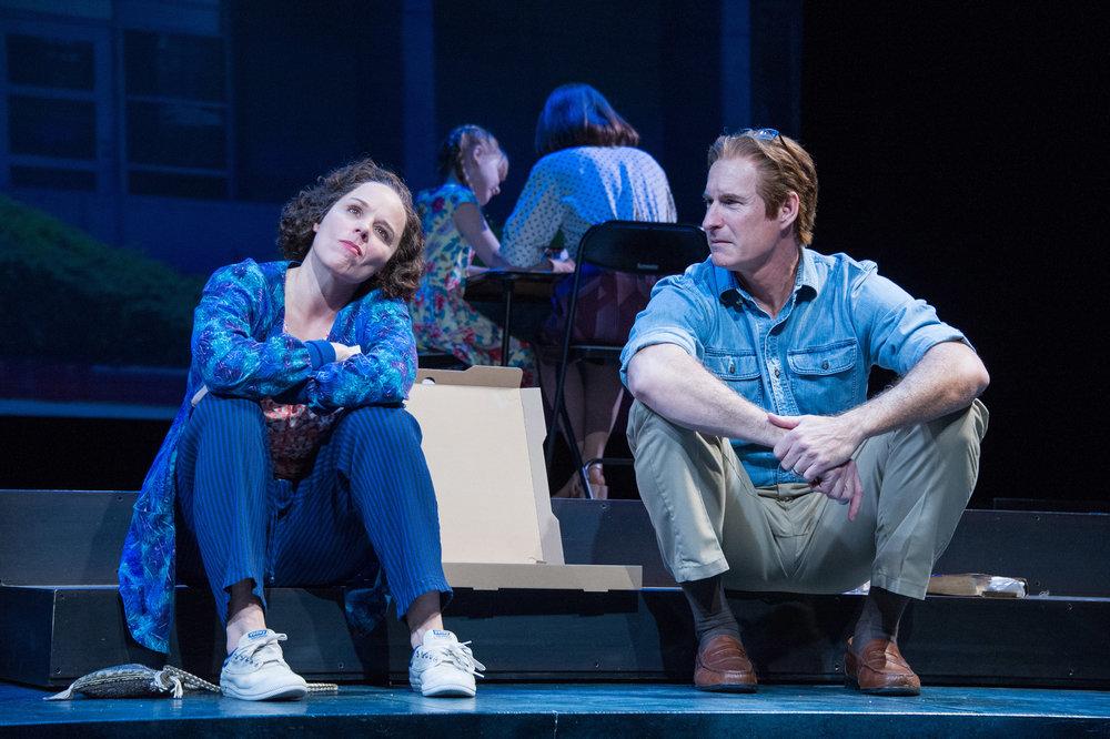 Sara Bruner and Jim Abele as Norma McCorvey and Flip Benham in  Roe .