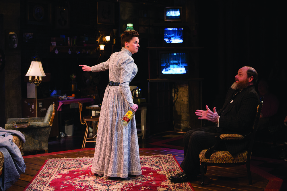 Kimberly Gilbert and Todd Scofield in  No Sisters.  (Studio Theatre)