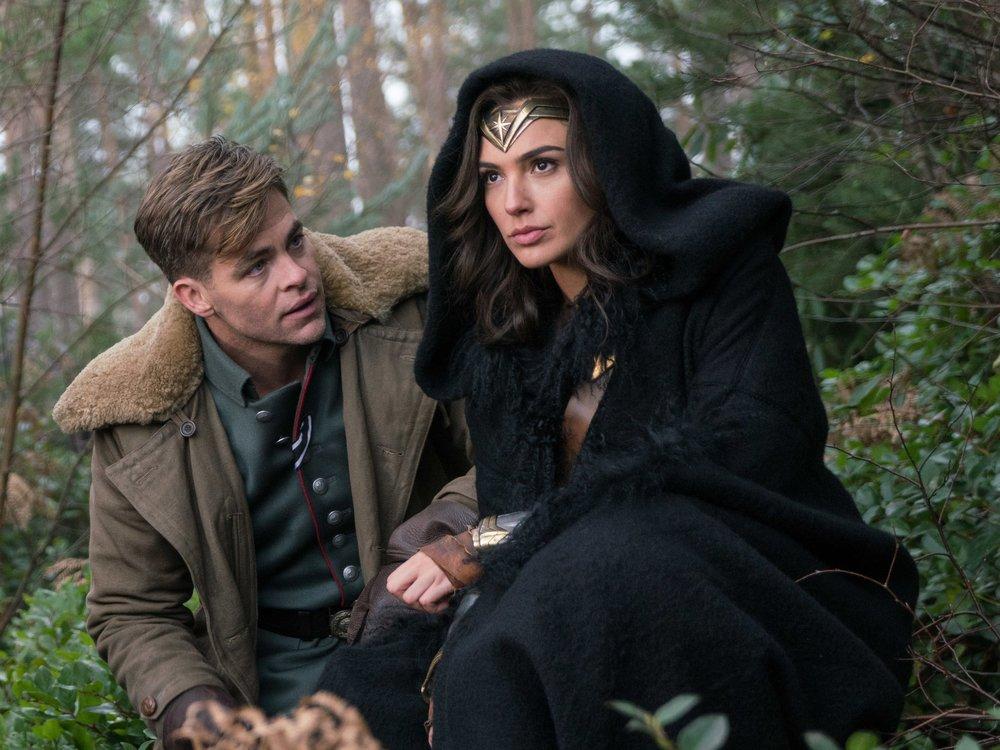 Chris Pine plays the sidekick to Gal Gadot in Wonder Woman. (Warner Bros.)