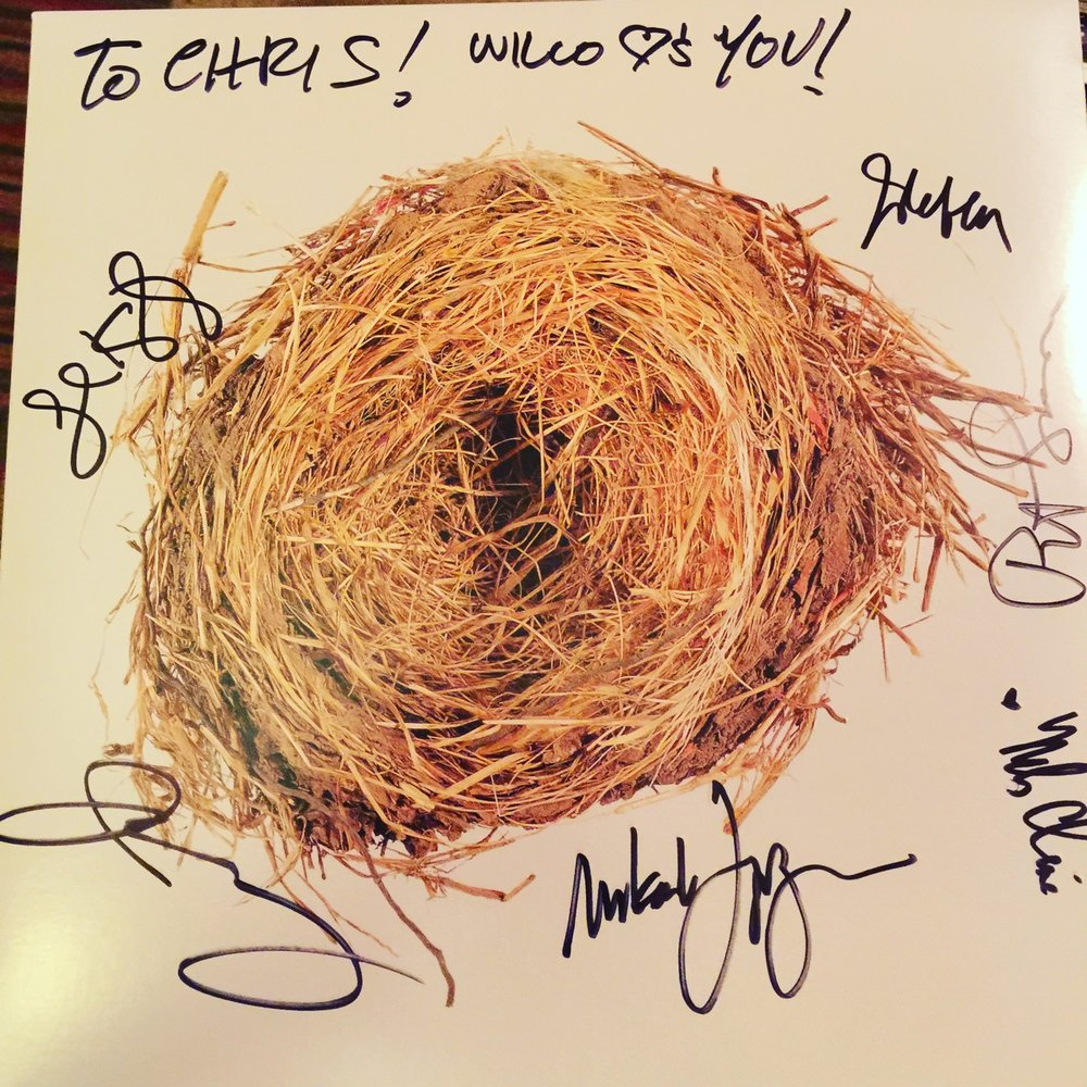 Mikael Jorgensen was kind enough to ask all his bandmates in Wilco to sign my copy of their 2004 LP  A Ghost Is Born.