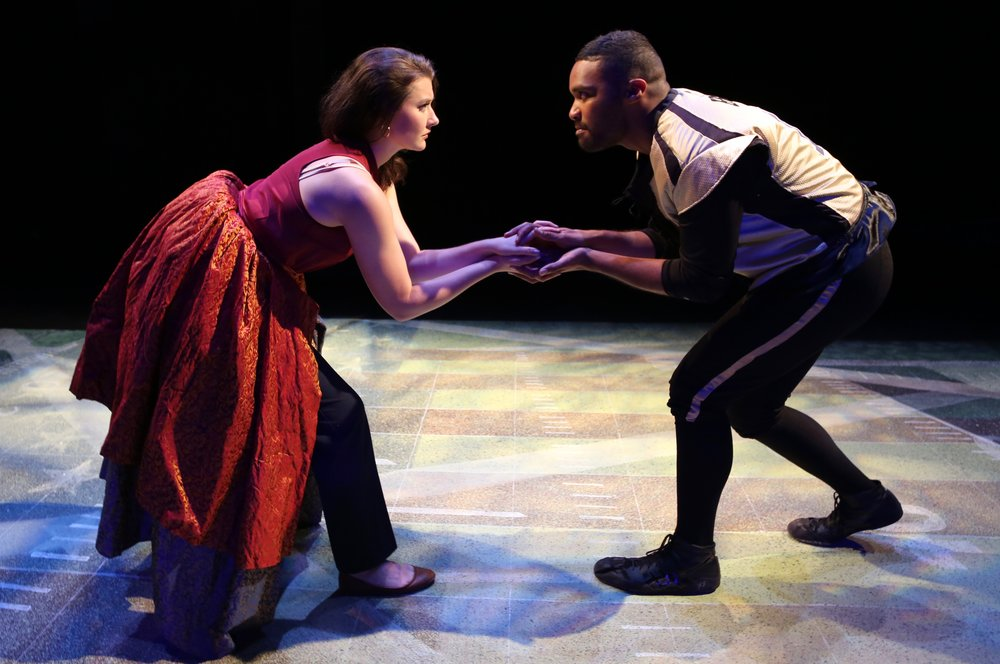 Emily Whitworth and Kamau Mitchell in Whipping. (Kathleen Akerley)