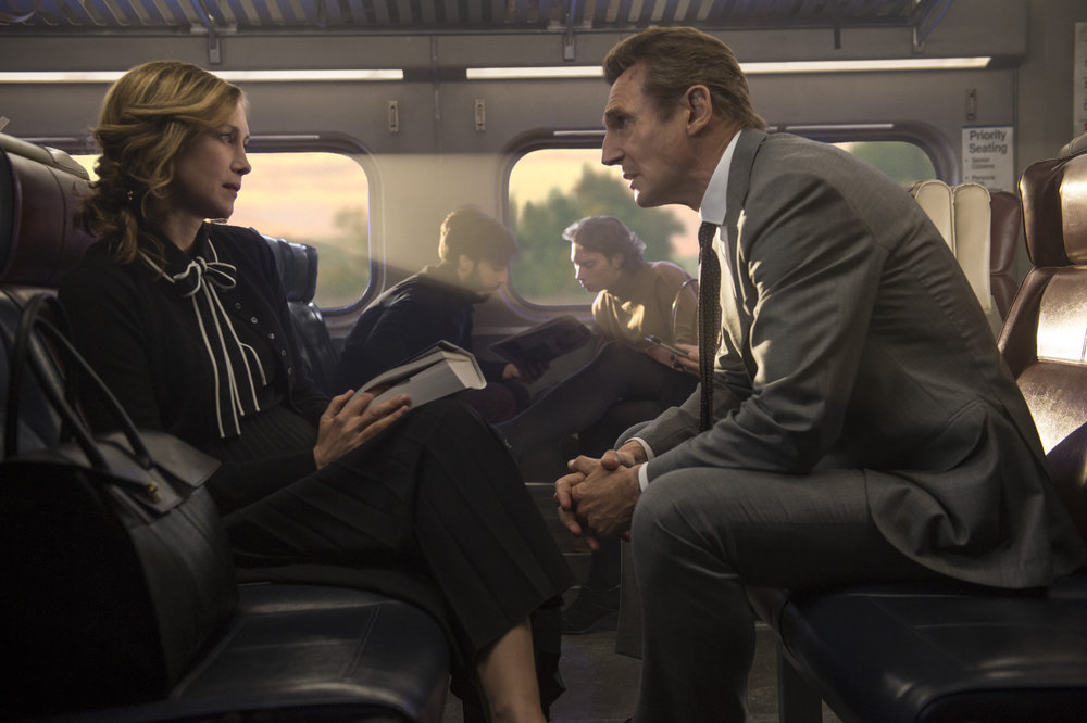 Vera Farmiga and Liam Neeson let the train take the strain. (Lionsgate)