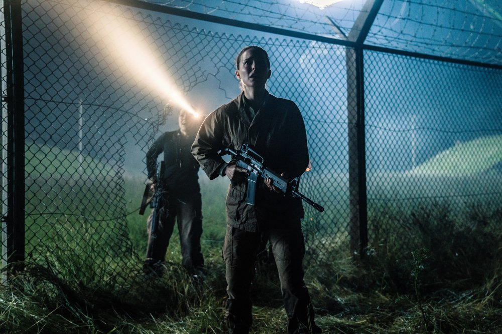 Gina Rodriguez and Natalie Portman breach the perimeter in  Annihilation . (Paramount)