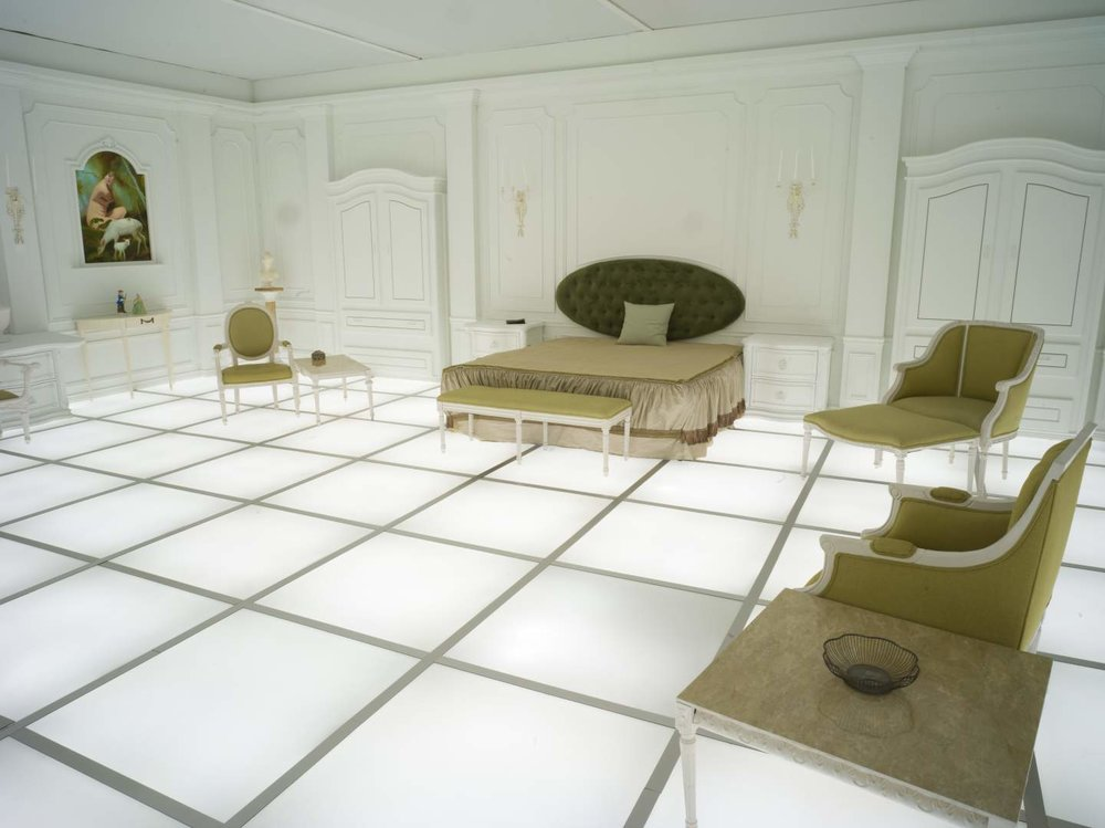 Simon Birch's installation  The Barmecide Feast,  recreating the French bedroom seen in the climax of  2001: A Space Odyssey,  is on view at the National Air and Space Museum April 8-May 28.