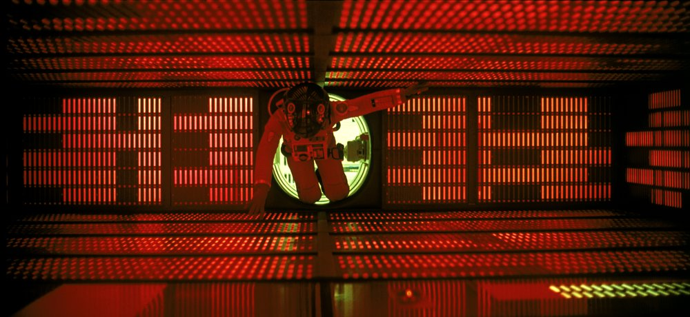 Dave Bowman, the original Sarah Connor, takes a spacewalk inside HAL 9000's head. (MGM)