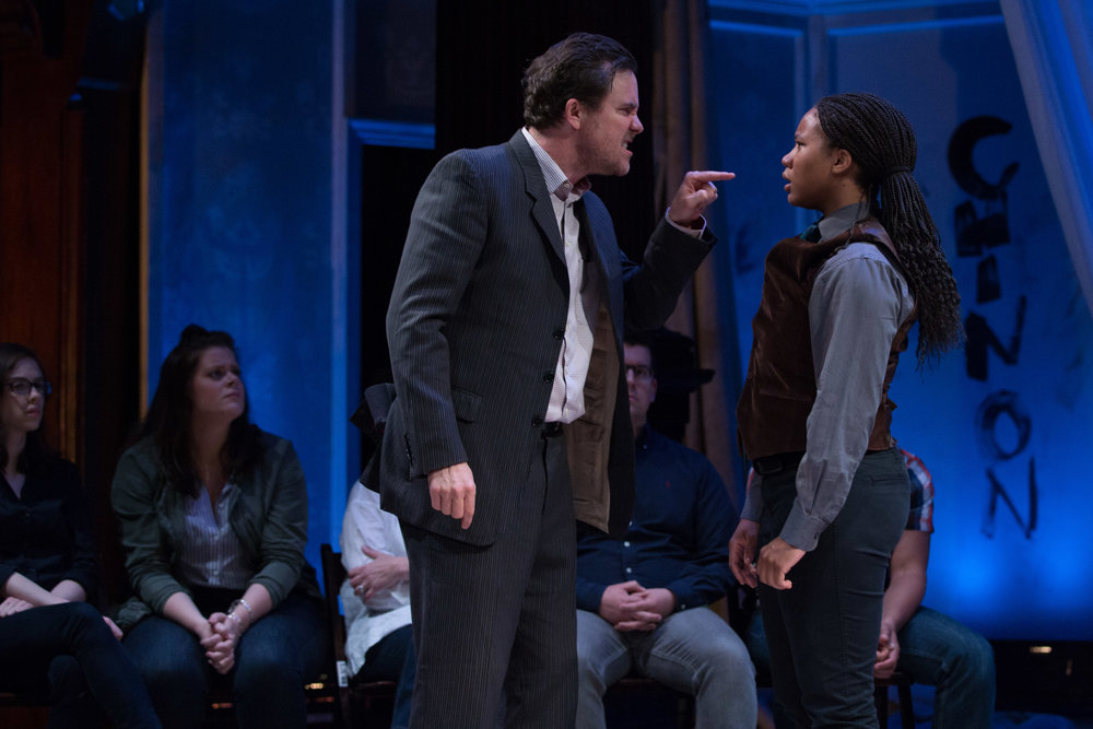 Eric Tucker and Aundria Brown in  Saint Joan  (Teresa Wood)