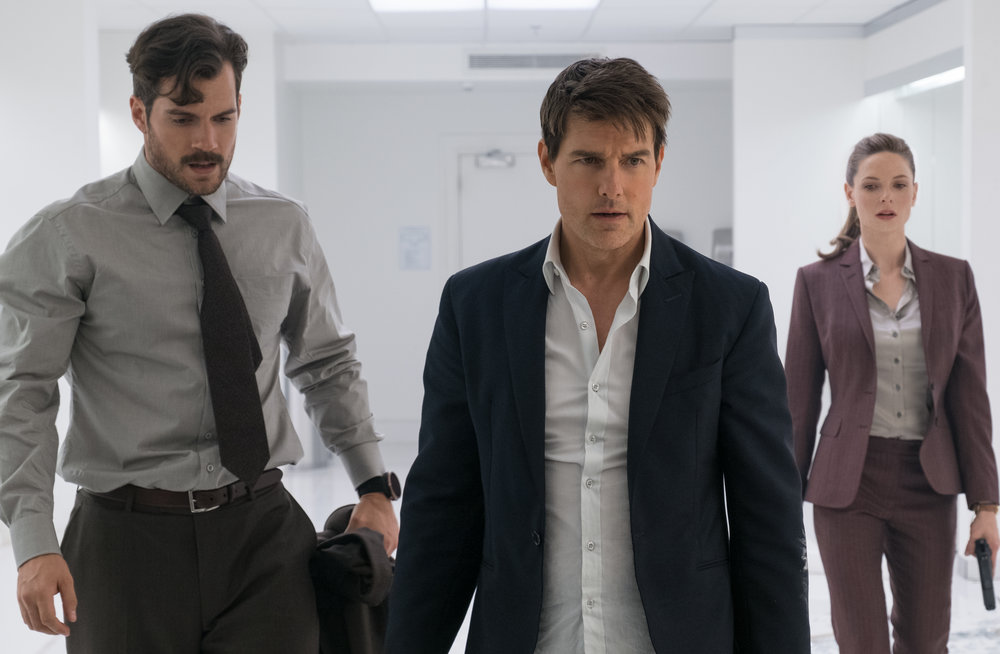 Henry Cavill is new; Tom Cruise and Rebecca Ferguson are back.
