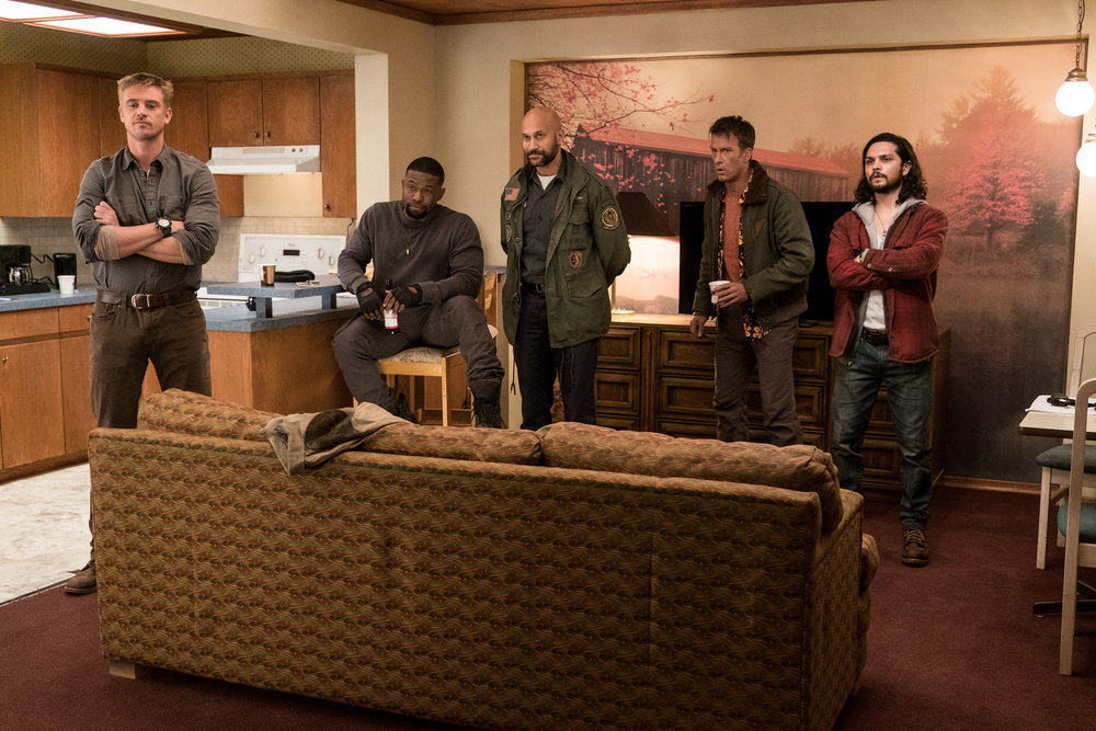 Boyd Holbrook, Trevante Rhodes, Keegan Michael-Key, Thomas Jane and Augusto Aguiliera. (Fox)