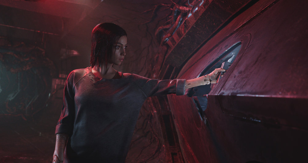 Rosa Salazar is  Alita , an amnesiac cyborg super-soldier in the 26th century. (Twentieth Century Fox)