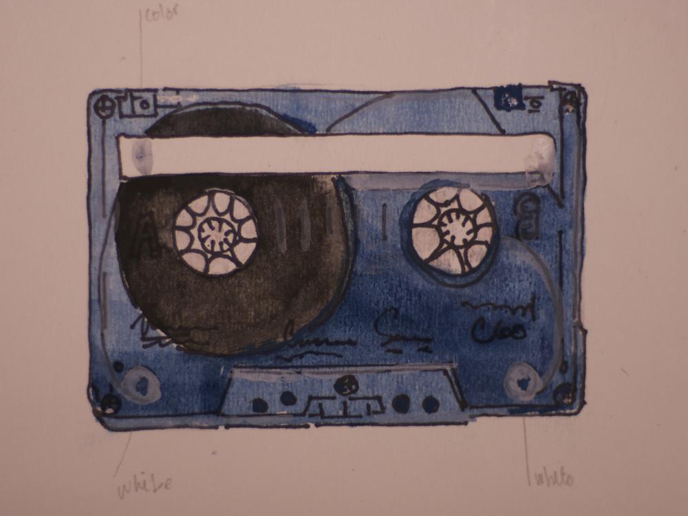 Old Cassette in Guache