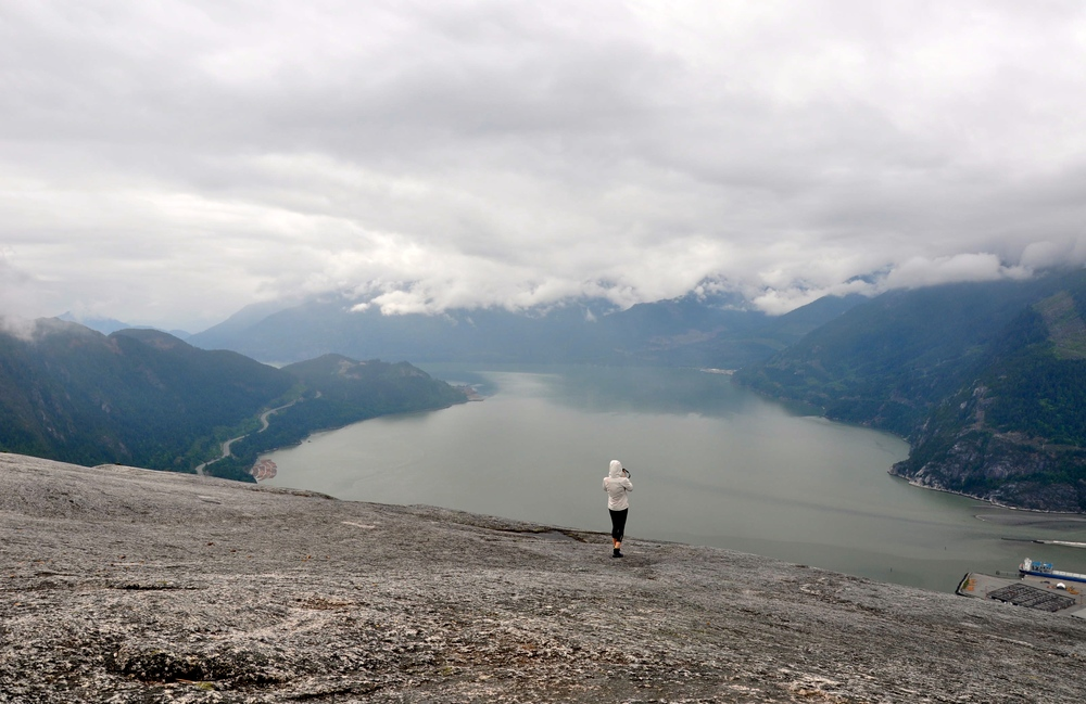 Peak of Stawamus Chief. Photo from Marina Steffensen.