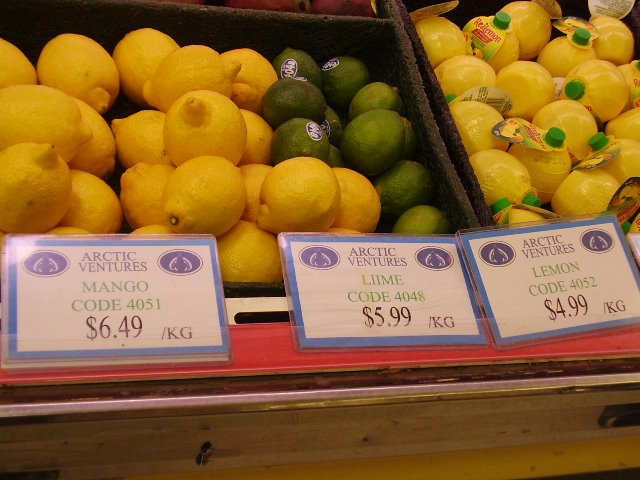 Northern fruit prices are inaccessible to many residents of the community.