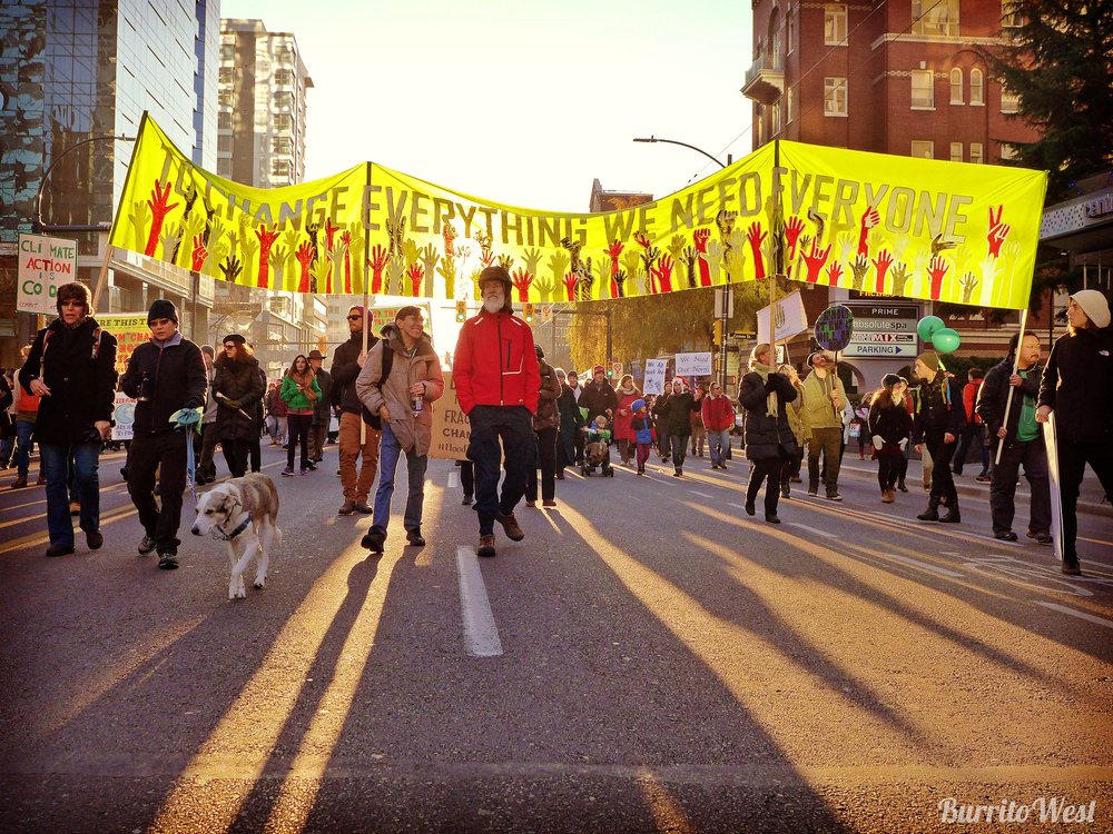 People's Climate March in Vancouver. Photo: Lisa, flickr creative commons.