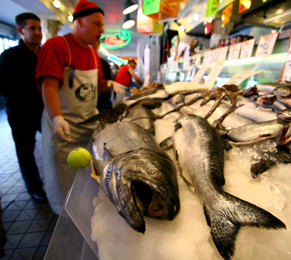 Fish for sale at the market. Photo via flickr used under creative commons.