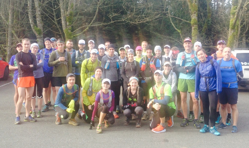 2015 Seattle Running Club Training Run on Chuckanut 50k Course