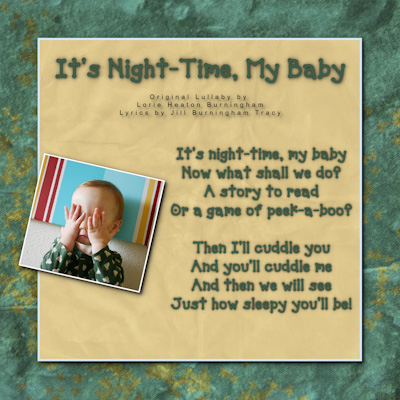 For future grandchildren - sung by Jill Burningham Tracy