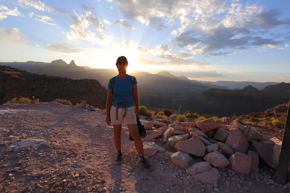 Karen at sunrise, Grand Canyon National Park.