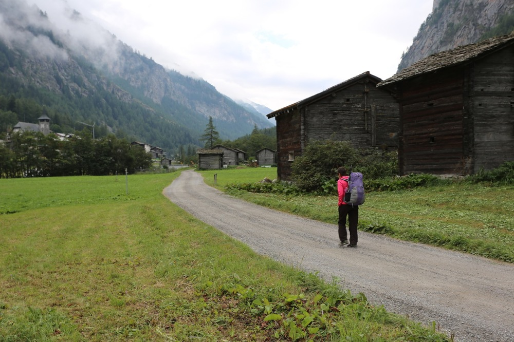 Our final day of hiking was an easy walk up the valley, passing through 5 to 6 villages on the way to Zermatt.