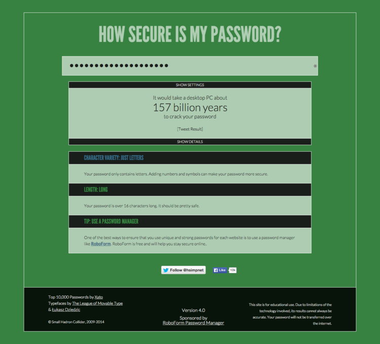 Source: https://howsecureismypassword.net/
