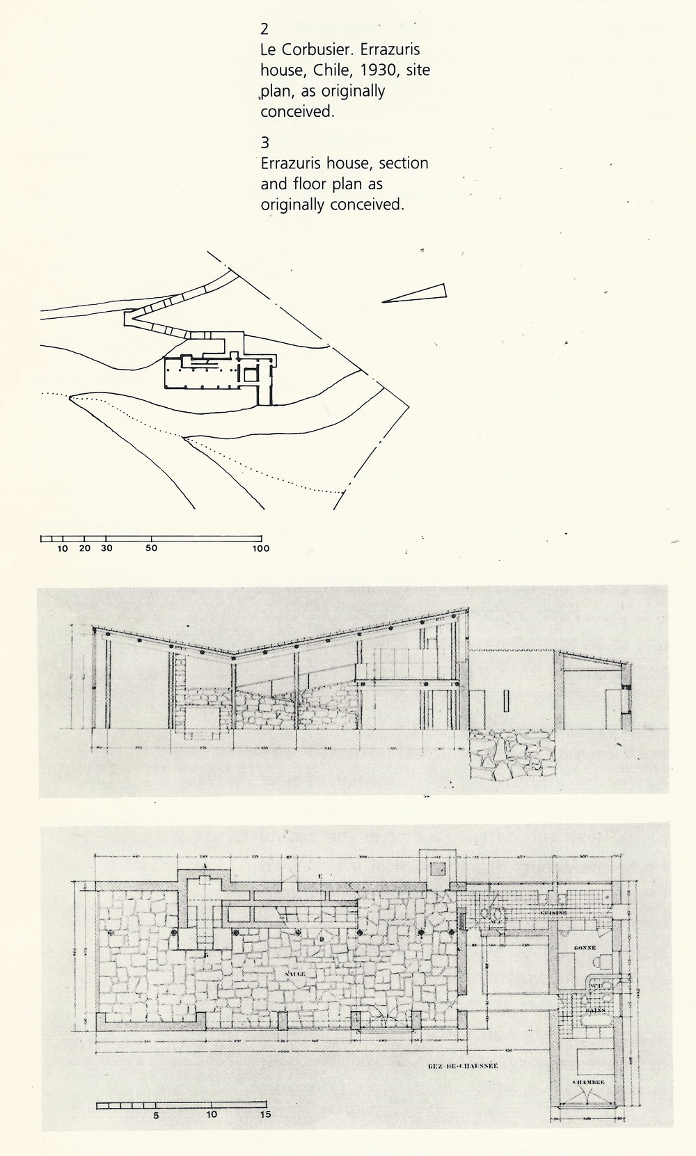 LeCorbusier's Errazuris house from  The Decorated Diagram