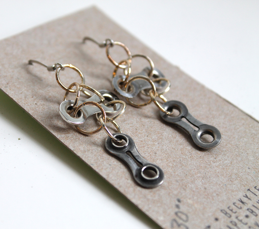 Bicycle Gear Earrings