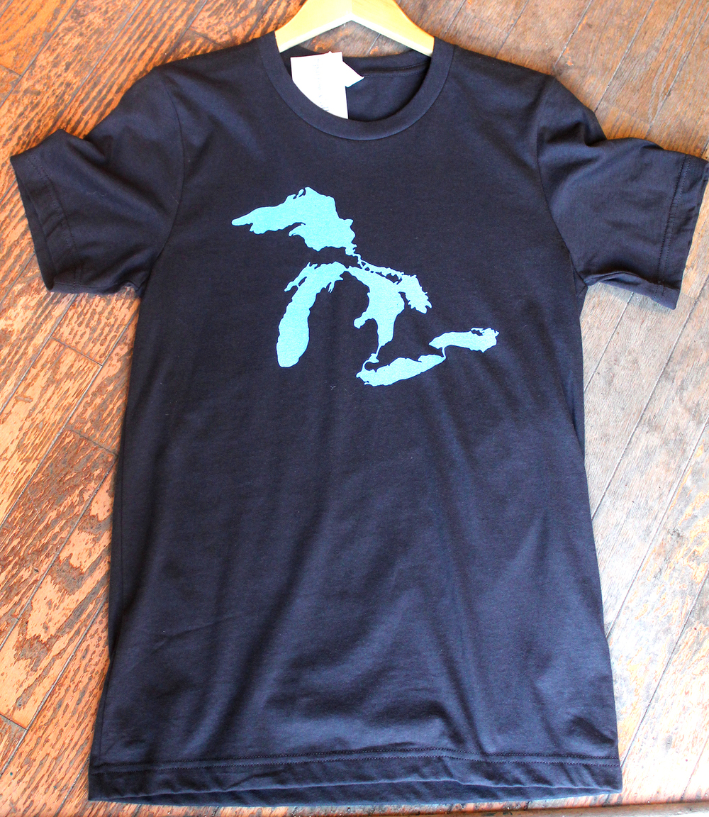 Mens american apparel great lakes tee