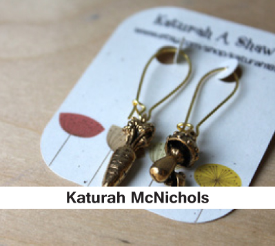 Katurah McNichols, women's earrings, handcrafted earrings, insect earriings