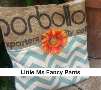 Little Ms Fancy pants, hand crafted purses, burlap purses, womens bags, burlap bags
