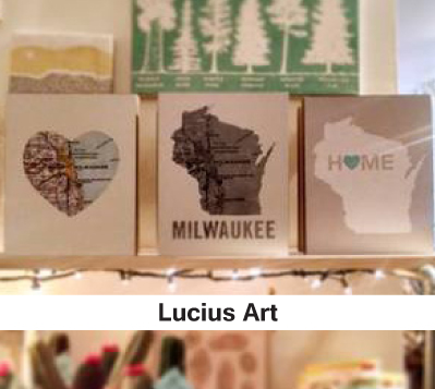 Milwaukee coasters, artwork, local artist