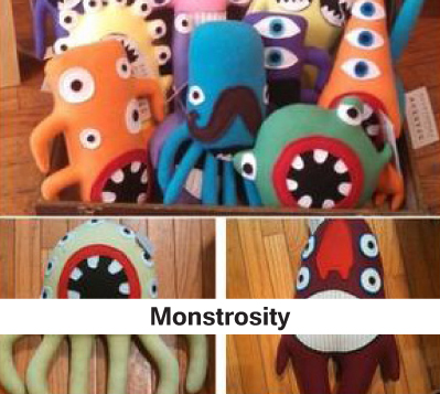 childrens gifts, homemade, homecrafted gifts for kids, monster stuffed animals