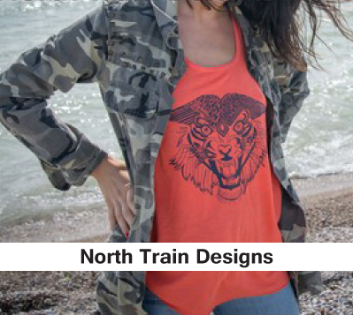 womens clothing, screen print, tiger print, tank top shop