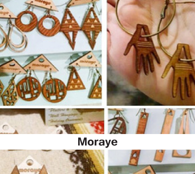 laser cut wood jewelry