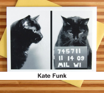 Cat Greeting Card photography kate funk