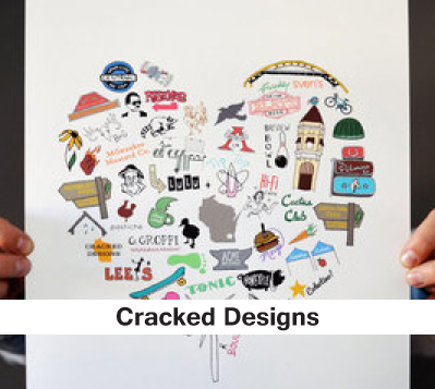 Cracked Designs, printed posters, milwaukee posters, wisconsin posters,